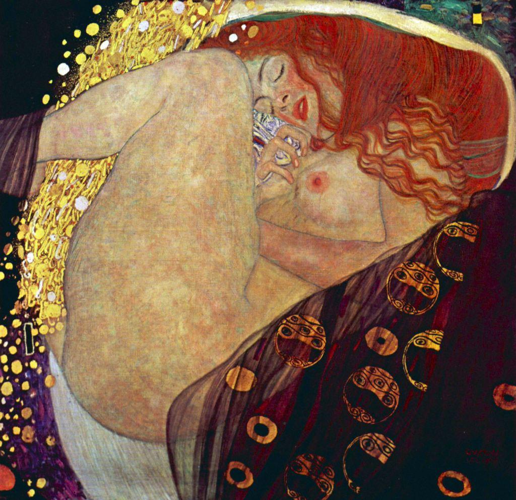 Dánae, Gustav Klimt