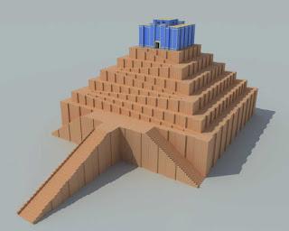 Reconstrucción del zigurat de Babilonia