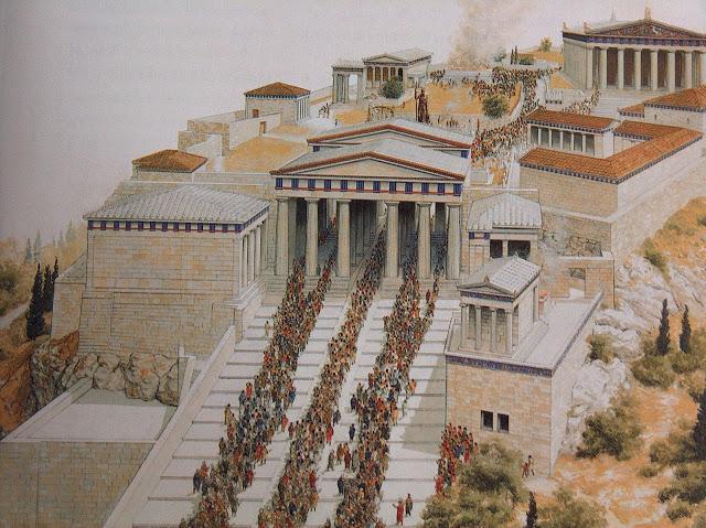 Procesión de las Panatenaicas en el Partenón de Atenas