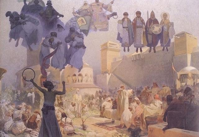 La introducción de la liturgia eslava, Alfons Mucha