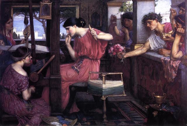 Penélope y los pretendientes, Waterhouse
