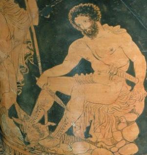 Odiseo-Ulises, cerámica griega.