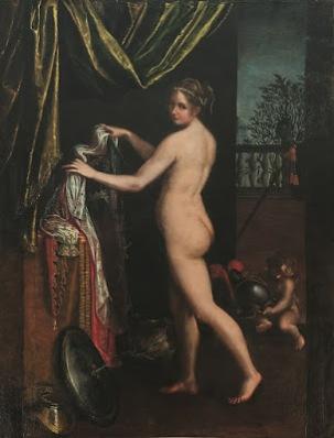 Minerva vistiéndose, Lavinia Fontana.