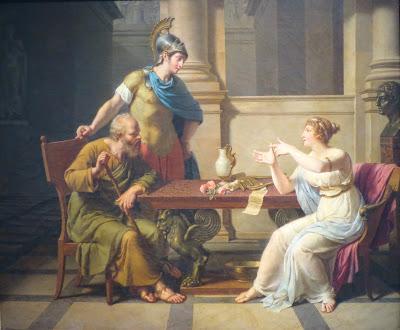 El debate de Sócrates y Aspasia, Nicolas-André Monsiau
