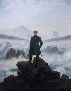 Caminante sobre un mar de nubes, Caspar David Friedrich