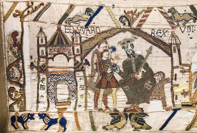 El tapiz de Bayeux. Escena 1