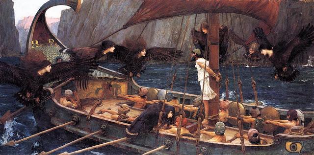 Ulises y las Sirenas, John William Waterhouse.