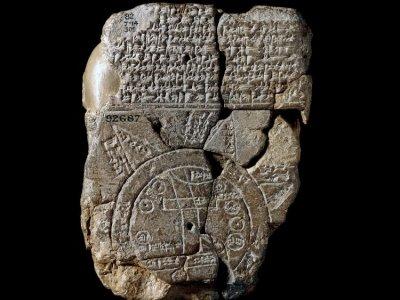 Mapamundi de Babilonia. Los Viajes de Aspasia