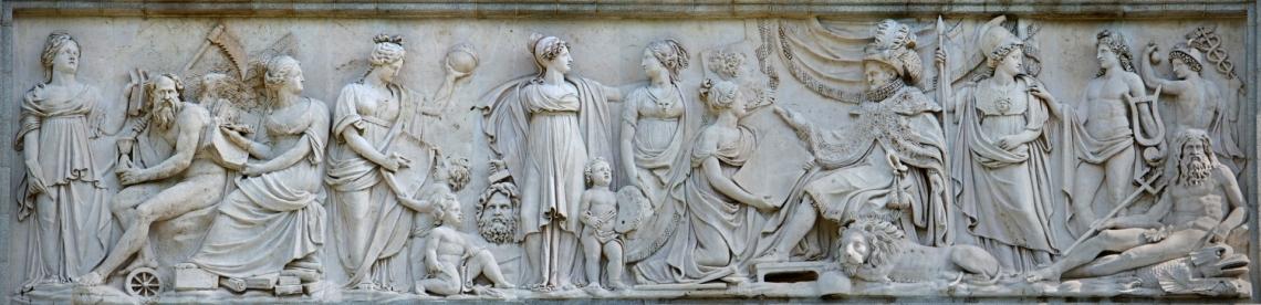 155_Fernando VII recibiendo los tributos de Minerva y las Bellas Artes