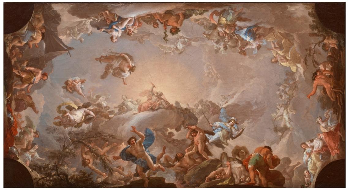 El Olimpo. Batalla de los gigantes