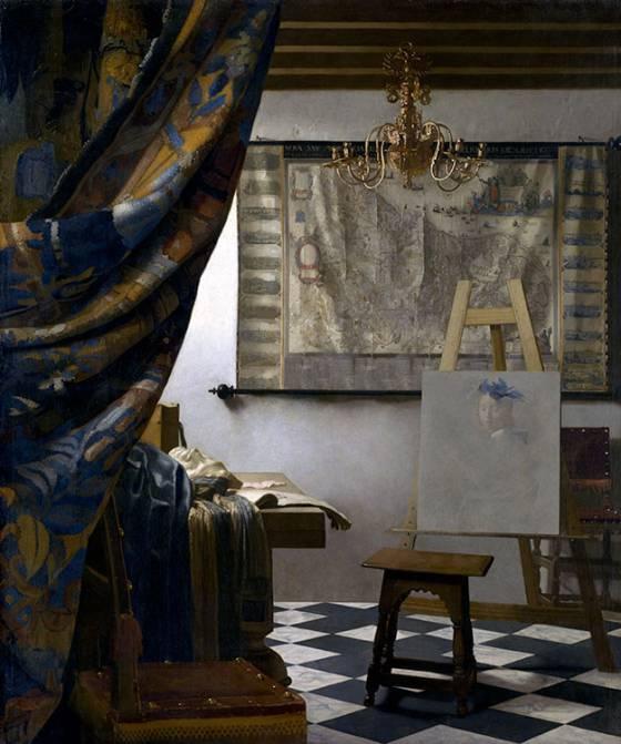El estudio del artista. Vermeer-Ballester