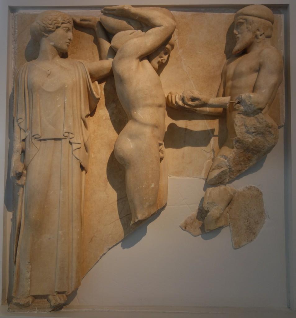 Metopa del templo de Olimpia